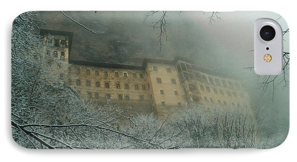 IPhone Case featuring the photograph Sumela Monastery by Lou Ann Bagnall