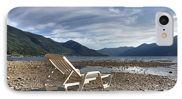 Sun Chair On Lake Maggiore Phone Case by Joana Kruse