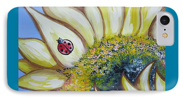 Sunflower And Ladybug IPhone Case