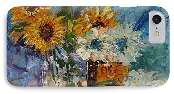 Sunflower Still Life IPhone Case by Carol Berning