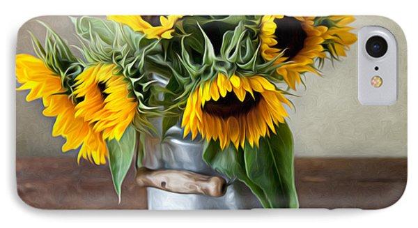 Sunflower iPhone 7 Case - Sunflowers by Nailia Schwarz