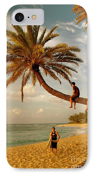 Sunset Beach Oahu IPhone Case by Mark Gilman