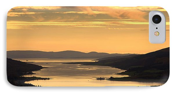 Sunset Over Water, Argyll And Bute Phone Case by John Short