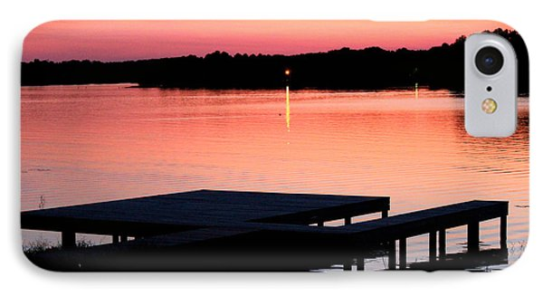 IPhone Case featuring the photograph Sunset View From Dockside by Kathy  White