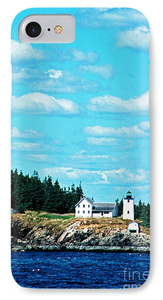 Swans Island Lighthouse Phone Case by Thomas R Fletcher