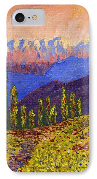 Swiss Alps Impasto Phone Case by Edward McNaught-Davis