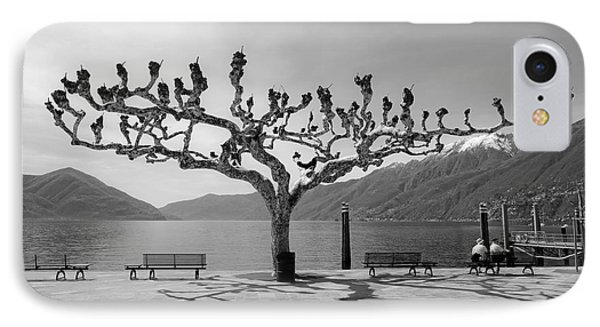 sycamore trees in Ascona - Ticino IPhone Case by Joana Kruse