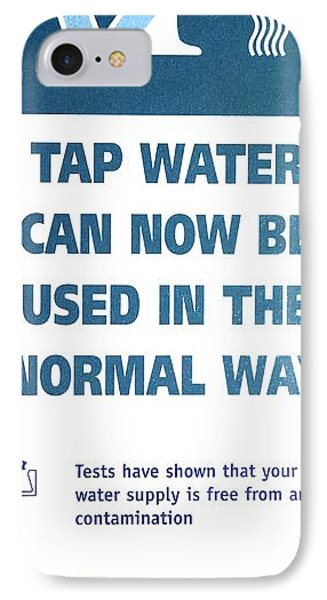 Tap Water Warning Sign Phone Case by Victor De Schwanberg