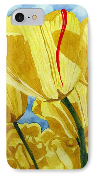 IPhone Case featuring the painting Tender Tulips by Debi Singer