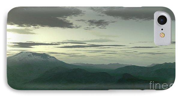 Terragen Render Of Mt. St. Helens Phone Case by Rhys Taylor