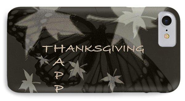 Thankful Holiday Card Phone Case by Debra     Vatalaro