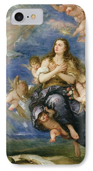 The Assumption Of Mary Magdalene IPhone Case by Jose Antolinez