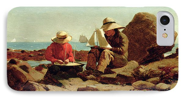 The Boat Builders IPhone Case by Winslow Homer
