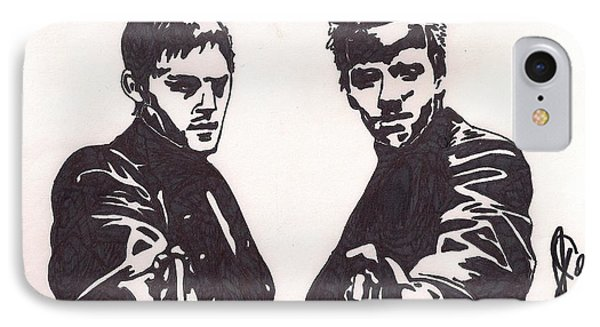 IPhone Case featuring the drawing The Boondock Saints by Jeremiah Colley