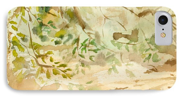 IPhone Case featuring the painting The Breeze Between by Daun Soden-Greene