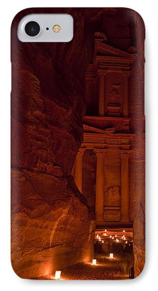 The Famous Treasury Lit Up At Night Phone Case by Taylor S. Kennedy