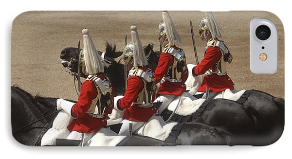 The Household Cavalry Performs Phone Case by Andrew Chittock
