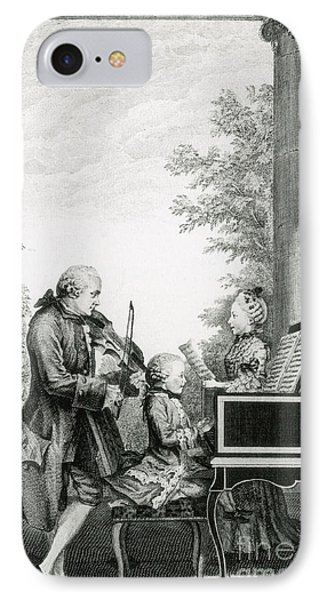 The Mozart Family On Tour, 1763 Phone Case by Photo Researchers