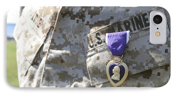 The Purple Heart Award Hangs Phone Case by Stocktrek Images