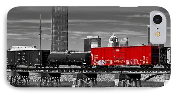 The Red Box Car IPhone Case by Doug Long