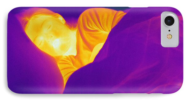 Thermogram Of A Sleeping Girl IPhone Case by Ted Kinsman
