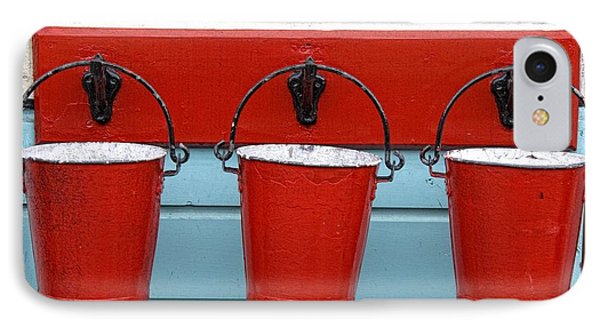 Three Red Buckets IPhone Case