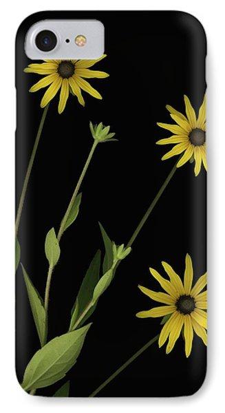 Three Yellow Flowers Phone Case by Deddeda