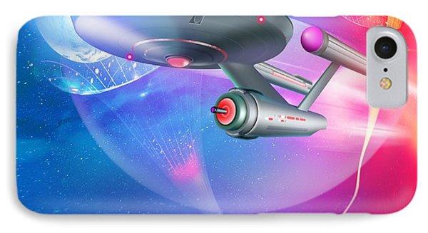 Time Travelling Spacecraft, Artwork Phone Case by Detlev Van Ravenswaay