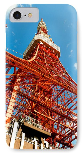 Tokyo Tower Face Cloudy Sky Phone Case by Ulrich Schade