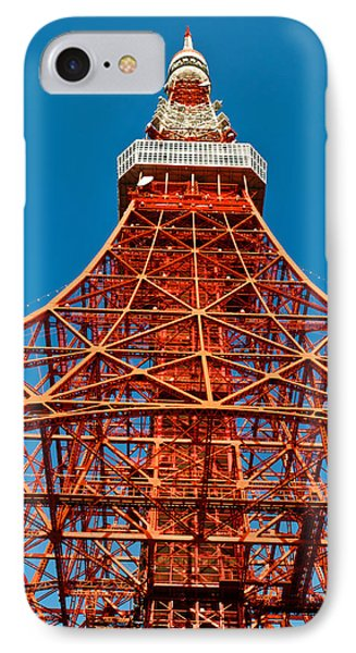 Tokyo Tower Faces Blue Sky Phone Case by U Schade