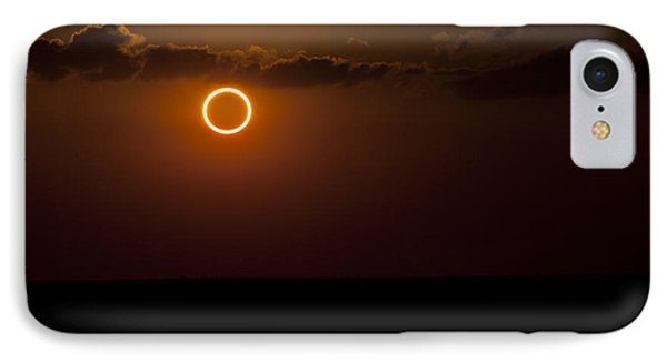 Totality During Annular Solar Eclipse Phone Case by Phillip Jones