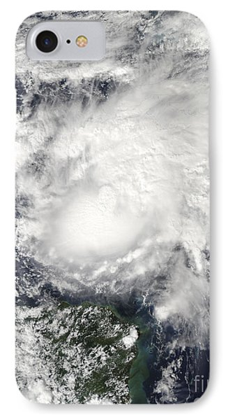 Tropical Storm Ida In The Caribbean Sea Phone Case by Stocktrek Images