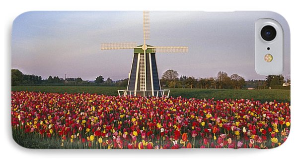 Tulip Field And Windmill Phone Case by Natural Selection Craig Tuttle