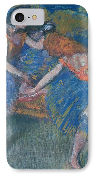 Two Dancers Phone Case by Edgar Degas