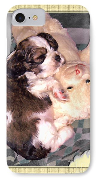 Two Stuffed Animals Phone Case by Debbie Portwood