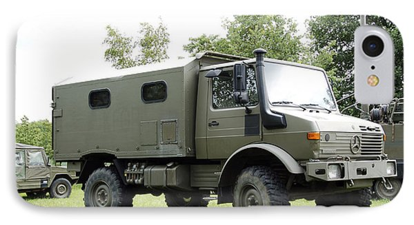 Unimog Truck Of The Belgian Army Phone Case by Luc De Jaeger