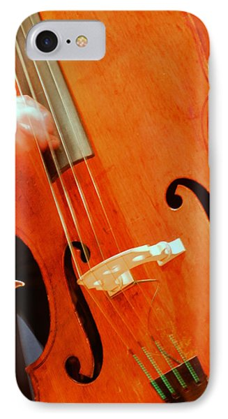 Upright Bass 2 IPhone Case by Anita Burgermeister
