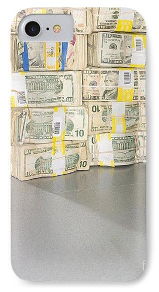 Us Bills In Bundles Phone Case by Adam Crowley