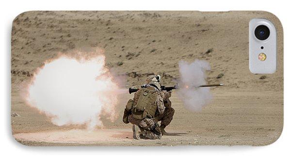 U.s. Marine Fires A Rpg-7 Grenade Phone Case by Terry Moore