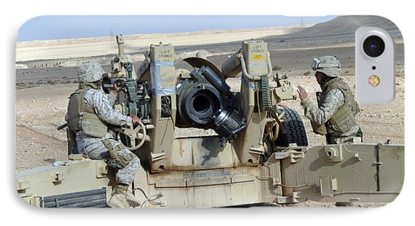 U.s. Marines Prepare To Fire A Howitzer Phone Case by Stocktrek Images