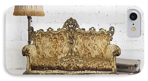 Victorian Sofa In White Room Phone Case by Setsiri Silapasuwanchai