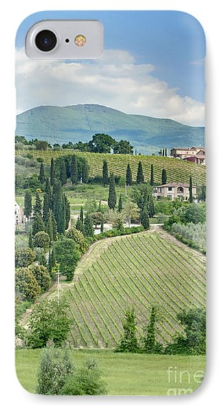 Vineyards On A Hillside Phone Case by Rob Tilley