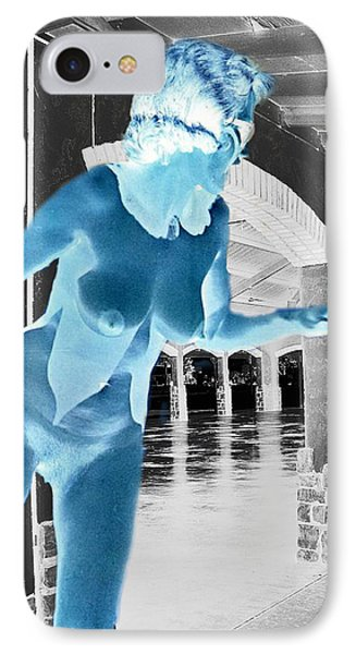 Vintage Nude In An Even More Vintage Building IPhone Case by Louis Nugent