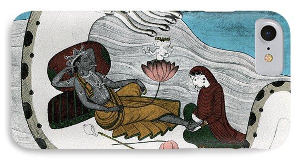 Vishnu And Lakshmi Phone Case by Photo Researchers