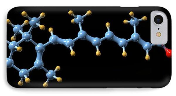 Vitamin A (retinoic Acid) Molecule Phone Case by Dr Mark J. Winter