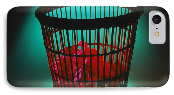 Wastepaper Bin IPhone Case by Tek Image