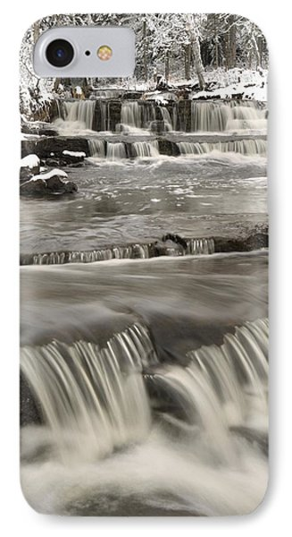 Waterfalls With Fresh Snow Thunder Bay Phone Case by Susan Dykstra
