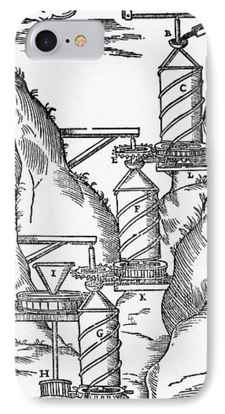 Watermill, Reversed Archimedean Screw Phone Case by Science Source