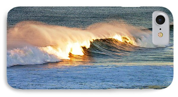 Wave At Sunrise IPhone Case by Werner Lehmann