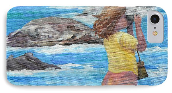 IPhone Case featuring the painting What's Out There by Terry Taylor
